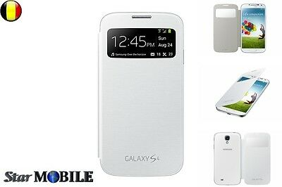 SAMSUNG GALAXY S4 i9500-9505 S-VIEW FLIP COVER COQUE CASE ETUIS HOUSSE BLANC