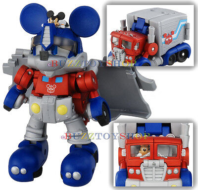 TAKARA TOMY DISNEY LABEL TRANSFORMERS MICKEY MOUSE OPTIMUS PRIME JAPAN EXCLUSIVE