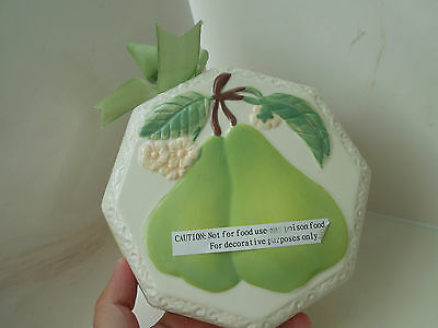 Avon Gift Collection Decorative Candle/Potpourri Holder - Pear Theme Wall Decor