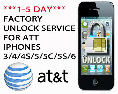 FACTORY UNLOCK CODE/ SERVICE FOR AT&T IPHONE 3 4 5 5C 5S 6 (NO CONTRACT ONLY)