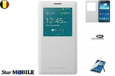 Samsung Galaxy Note 3 N900 S-View Flip Cover Coque Case Etuis Housse Blanc