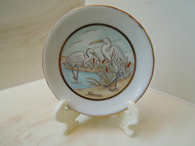 Lefton Florida Plate with Storks 1987