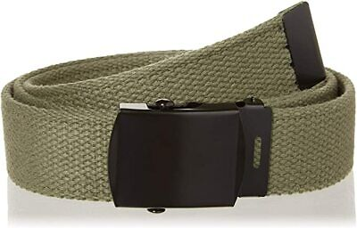 """U.s Military Style Od Green Web Belt With Black Buckle 54"""" Inches"""