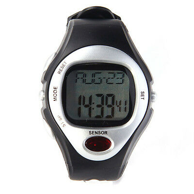 Pulse Heart Rate Monitor Calories Counter Fitness Watch Time StopWatch Alarm F5