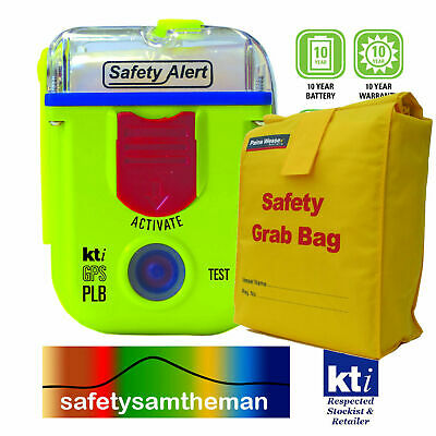 KTI SAFETY ALERT SA2G 406MHz PLB DISTRESS RESCUE BEACON with SAFETY GRAB BAG