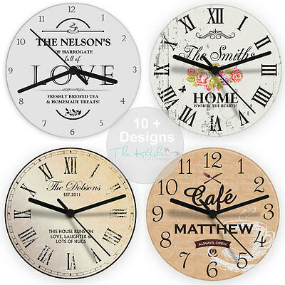 Personalised Kitchen Wall Clock - Birthday, Housewarming Gift Idea & Kids Clocks