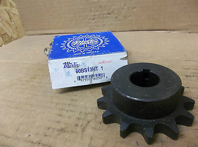 "Martin Keyed Bore Sprocket 60BS13HT 1 60BS13HT1 1/4"" Keyway 1"" Bore New"