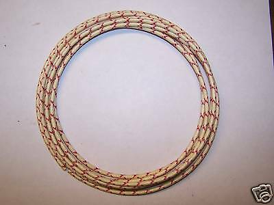 Cloth Covered Primary Wire  14 gauge White w/ Red