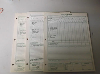 (3) Weekly Business Expense Report Booklet Forms