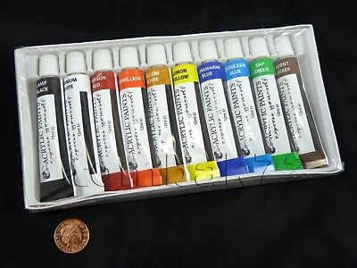 ACRYLIC PAINTS Assorted Colours Water Based PAINT SET Artist Art Crafting School