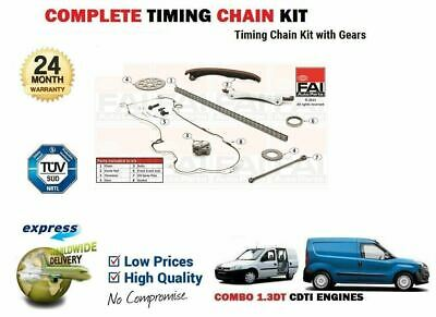 FOR OPEL VAUXHALL COMBO VAN 1.3 CDTi 16v 2004> TIMING CAM CHAIN KIT + GEARS SET