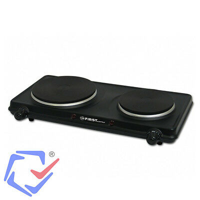 2250W Electric Cooking Dual Hob Portable Stove Stainless Steel Black Camping