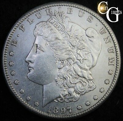 1897-S Morgan Silver Dollar Choice Uncirculated Details Key Date UNC BU Coin MS