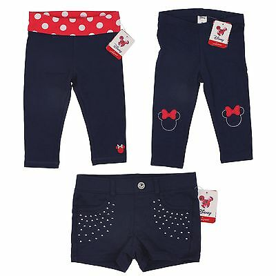 Disney Minnie Mouse Blue Pants, Shorts for Toddler Girls - Jumping Beans