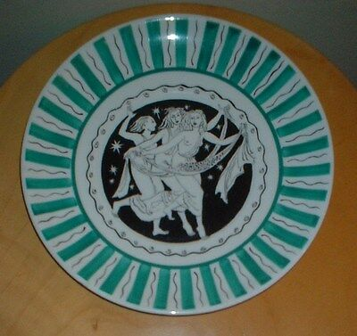 ART DECO FOLEY CHINA 1934 HARRODS EXHIBITION LAURA KNIGHT CUPID LARGE PLATE