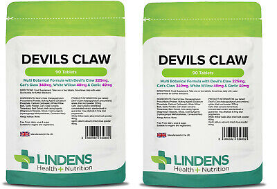 Devils Claw Formula 180 Tablets Joint Pain Anti-inflammatory Arthritis Vegan