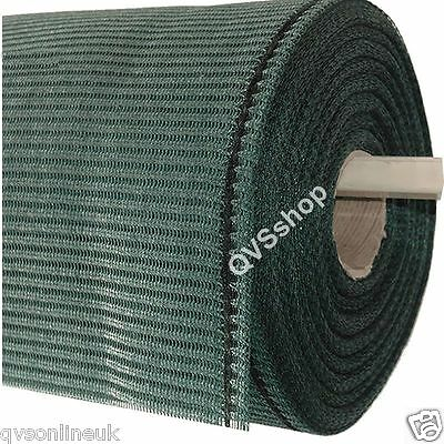 Green Heavy Duty SHADE & WINDBREAK NETTING 3ft, 4ft & 6ft High Greenhouse/Fence