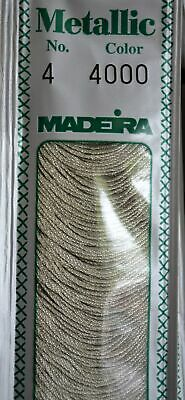 Madeira Stranded Metallic Hand Embroidery Thread, 20 metres, No. 4, Crafts, Art