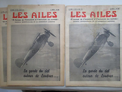 Ailes 1937 825 Gladiator Caudron Simoun Volland V-10 Fokker F56 S-42 Pan Am