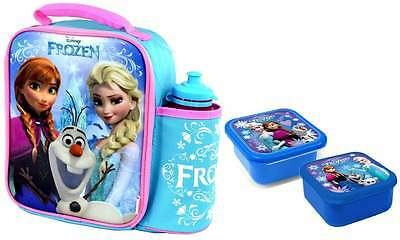 Disney Frozen Vertical Lunch Bag/Box and Bottle Set with 2-Piece Snack Box