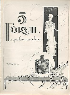 ▬► Publicite Advertising Ad Parfum Perfume 5 Forvil 1926 Paul Dufau Art Deco