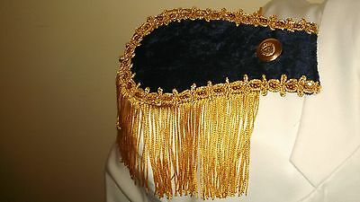 New 2 Navy Epaulettes Steampunk Pirate Cosplay Costume Larp Military  Fringe