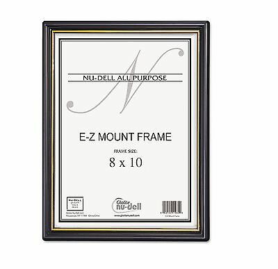 Nu-Dell 11800 EZ Mount Document Frame, Plastic, 8 x 10 Inches, Black