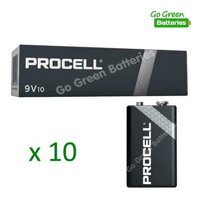 10 x Procell 9V PP3 (Replaces Duracell Industrial Batteries) LR22 BLOC MN1604