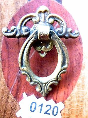 Victorian Drawer Pull Vintage Cabinet Bail Ring Pull Cast Iron