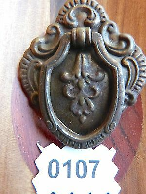 Victorian Drawer Pull Shield Pull Door Handle Cabinet Door Bail Ring Pull