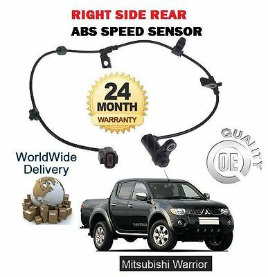 For Mitsubishi L200 Warrior 2.5 Did 2006--> Right Side Rear Abs Speed Sensor