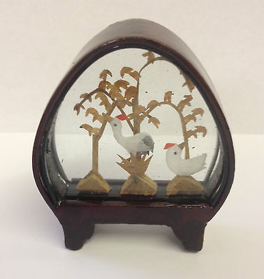 Small Traditional Hand Crafted Chinese Cork Scene in Glass & Wood Frame ~ CS1 B