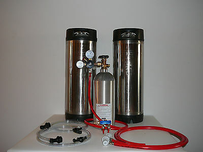 Two Tap Home Brew System With 2 Pin Lock Corny Kegs