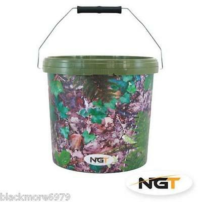 Camo Bait Buckets Two Sizes 2.5-5Lt Carp Ground Bait Boilies Parti Mix Particle