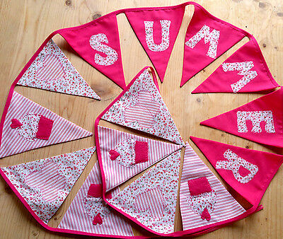 Girls PERSONALISED Pink Bunting GIFT Christening Baby Birthday Present 18th 21st