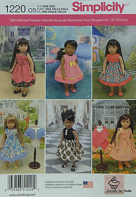 """Simplicity 1220 Doll Clothes & Accessories PATTERN fits 18"""" AMERICAN GIRL Dress"""