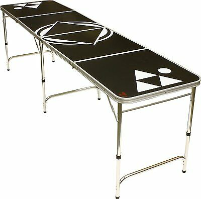Beer Pong Table Black 8 FEET - Portable by Red Cup Pong OOO  BLACKN8-T BRANDNEW