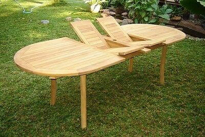 """94"""" Oval Table - A Grade Teak Wood Garden Outdoor Dining Furniture Pool Patio"""