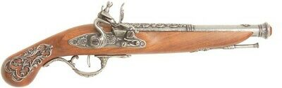 Denix English Flintlock Pistol Reproduction - Pewter