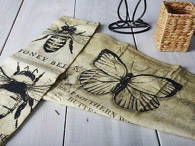 VINTAGE BUGS Butterflies & Bees COTTON TEA TOWEL By Creative Tops
