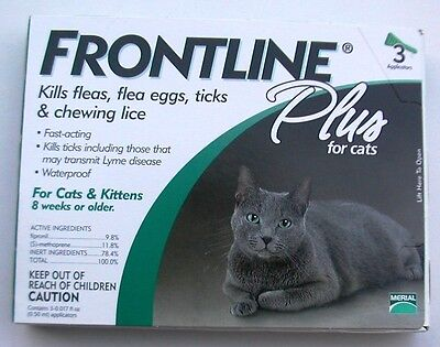 FRONTLINE PLUS For Cats and Kittens 8 weeks and older (3pk)