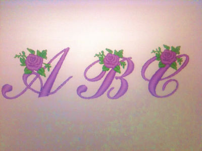Brother Rose Alphabet  Embroidery Designs  For Brother Machine ..pes....cd