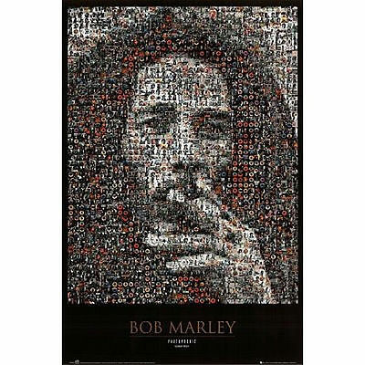 BOB MARLEY - PHOTOMOSAIC I POSTER - 24x36 SHRINK WRAPPED - COLLAGE MUSIC 2508