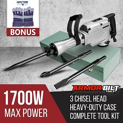 1700W Demolition Jack Hammer Commercial Grade Electric Jackhammer Tools Kit
