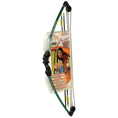 Archery Bear Scout Youth Childrens Compound Kids Bow Arrows Quiver Tab Set