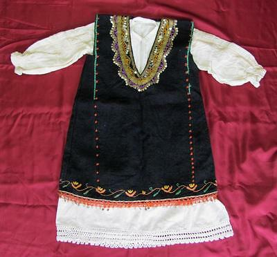 19C. Antique Bulgarian Folk Art Traditional Embroidered Child Costume