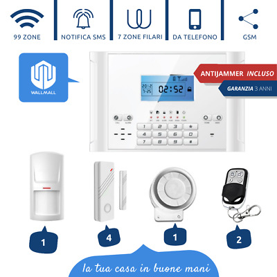 Kit Antifurto Casa Allarme Combinatore Gsm / App Wireless Go110S Anti Jammer