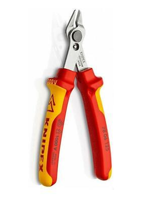 Knipex VDE 78 06 125 Insulated Super Knips Diagonal Flush Cut Side Cutter Pliers