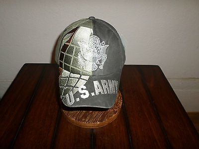 U.s Military Army Grenade Hat Ball Cap Embroidered Grenade On Front U.s Flag a5f946de0019
