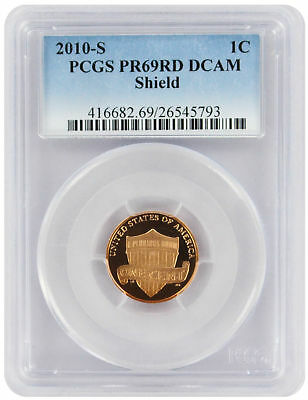 2010-S Lincoln Cent PR69RD DCAM PCGS Proof 69 Red Deep Cameo Shield